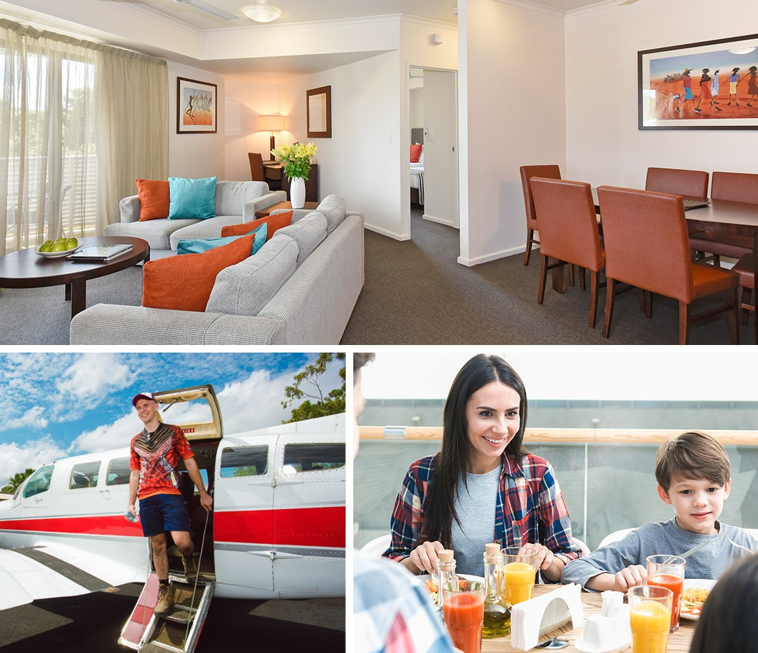 City Apartment, Dinner Escape & Scenic Flight - up to 4 guests