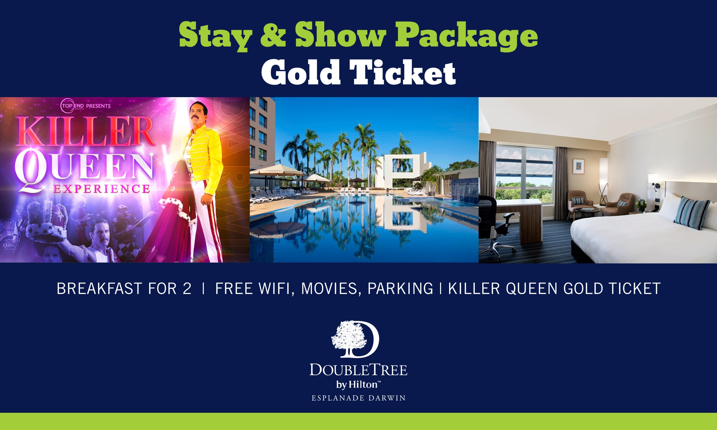 KILLER Stay & Show at DoubleTree by Hilton Esplanade Darwin (Gold Class)