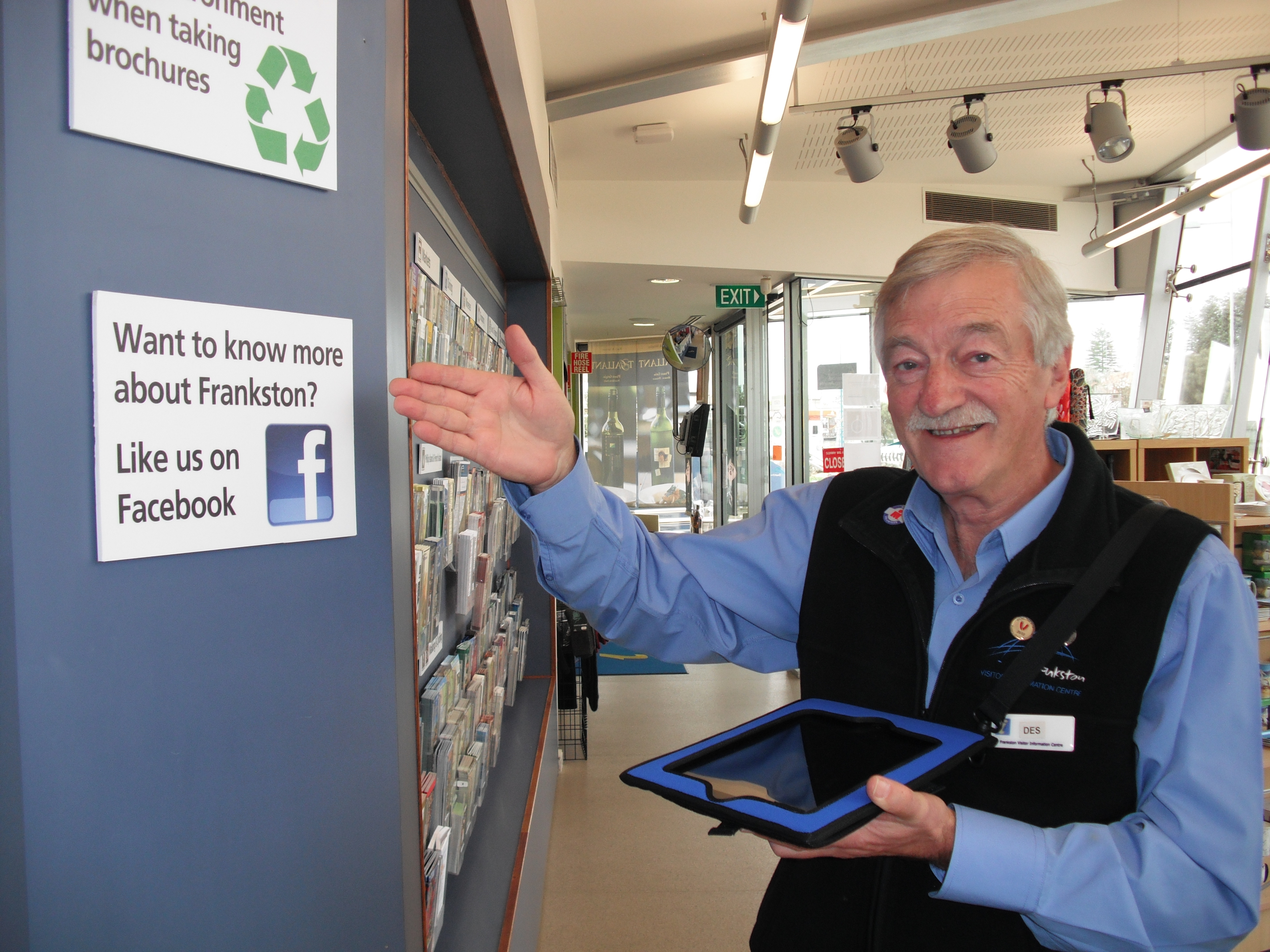 Frankston Visitor Information Centre Volunteer Like us on Facebook