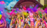 Join the fun and party at Color Run in Ipswich's Robelle Domain.