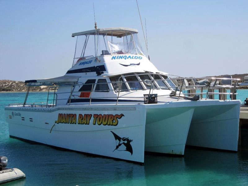 Ningaloo Coral Bay Boats - Coral Bay Charters & Glass Bottom Boats